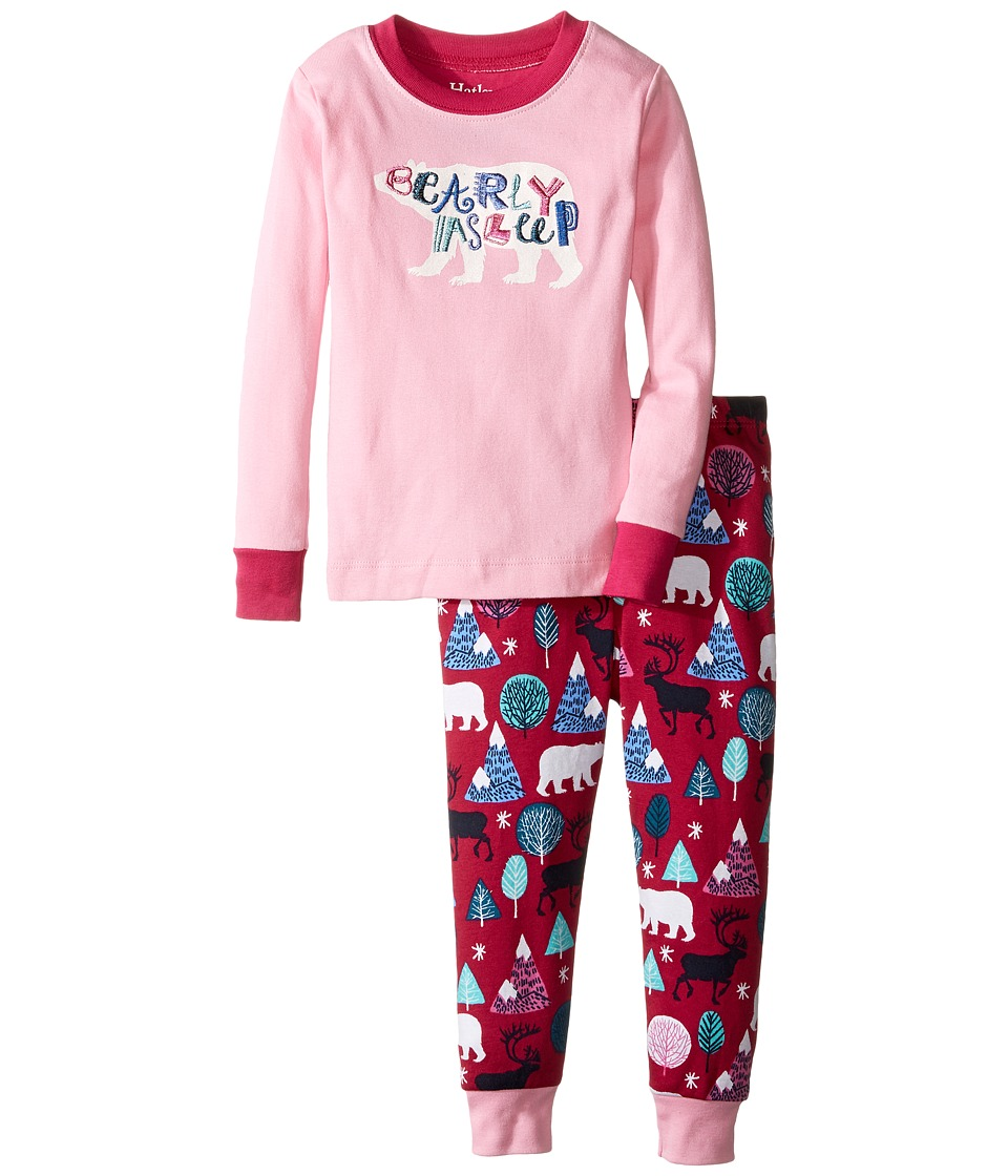 Hatley Kids - Bearly Asleep Pajama Set (Toddler/Little Kids/Big Kids) (Pink) Girl's Pajama Sets