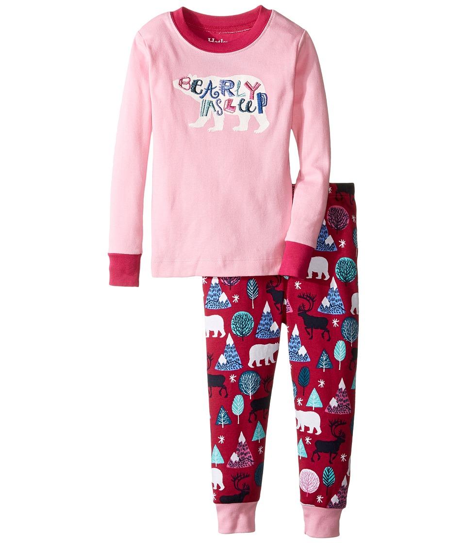 Hatley Kids - Bearly Asleep Pajama Set (Toddler/Little Kids/Big Kids) (Pink) Girl's Pajama Sets