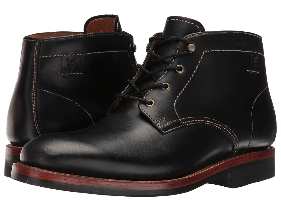 Trask - Irving (Black American Steer) Men's Flat Shoes