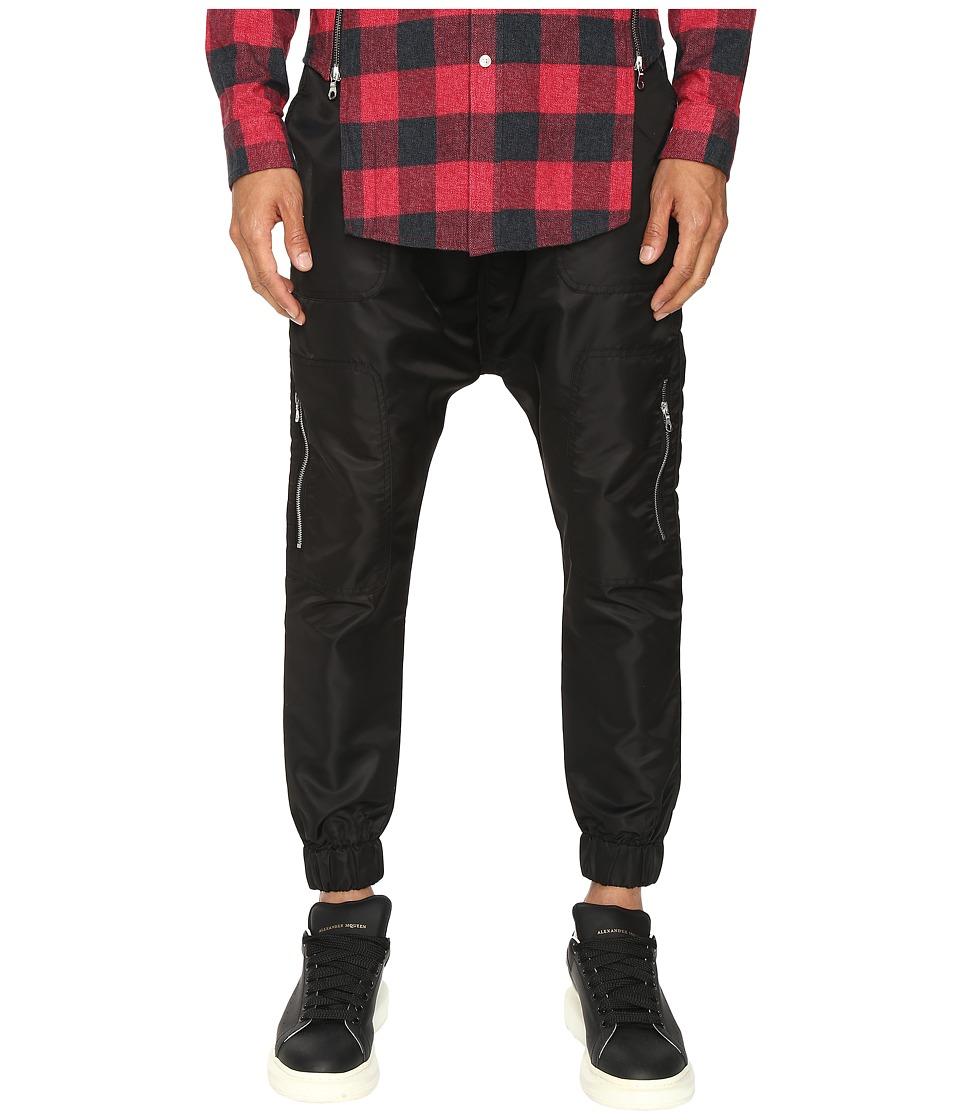 Mostly Heard Rarely Seen FST Jersey Cargo Harem Pants (Black) Men