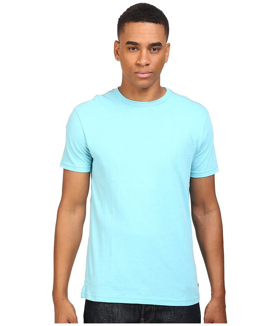 RVCA - Label Vintage Wash Tee (Maui Blue) Men's T Shirt