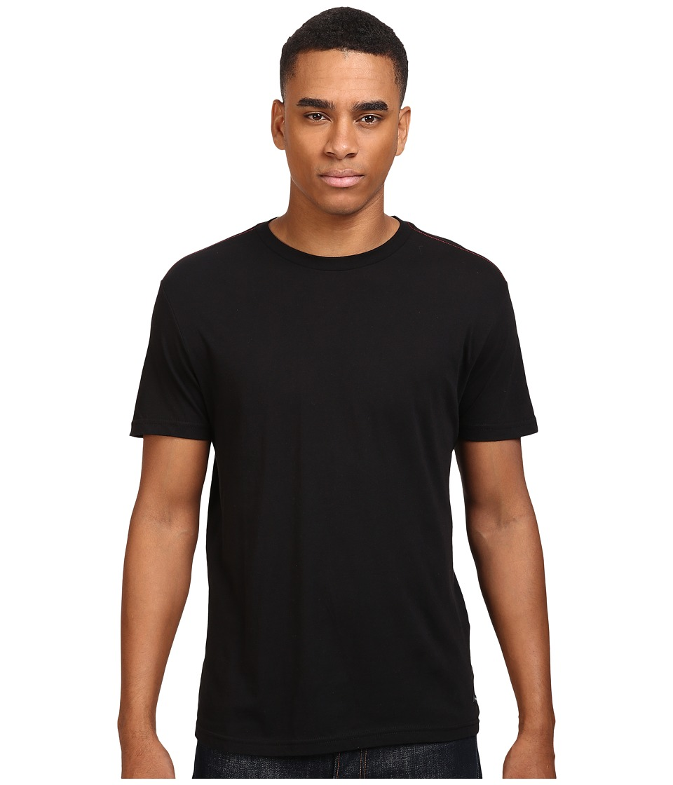 RVCA - Label Vintage Wash Tee (Black) Men's T Shirt