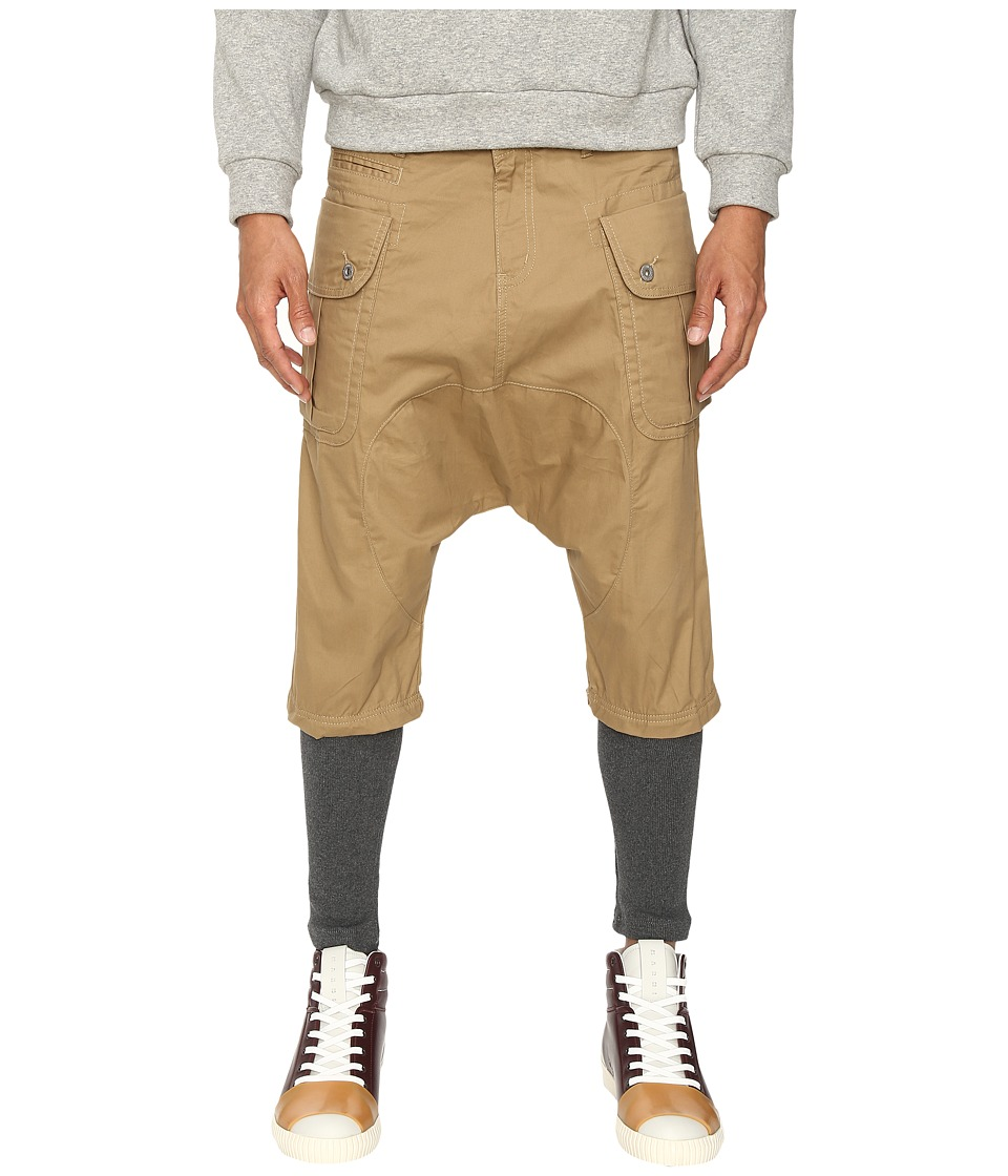 Mostly Heard Rarely Seen - Deconstructed Equestrian Pants (Khaki/Charcoal) Men's Casual Pants