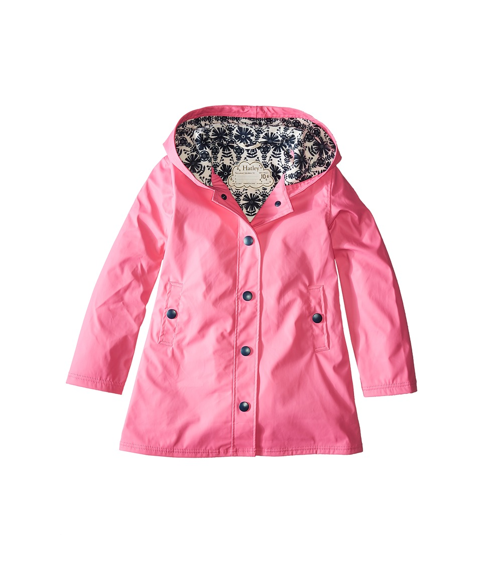 Hatley Kids - Pretty Splash Jacket (Toddler/Little Kids/Big Kids) (Pink) Girl's Coat
