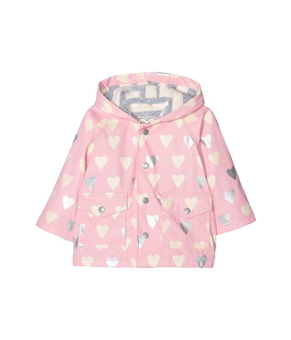 Hatley Kids - Metallic Hearts Raincoat (Infant) (Pink) Girl's Coat