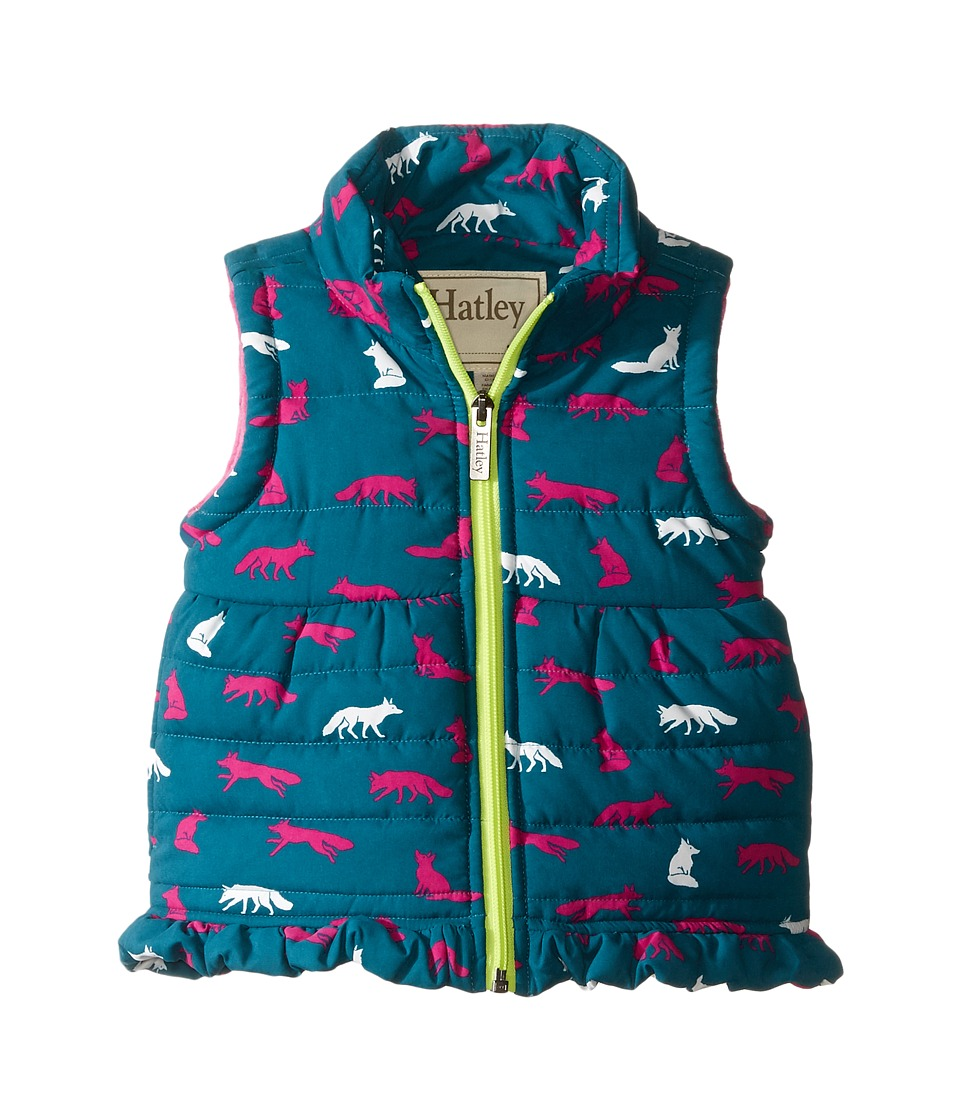 Hatley Kids - Winter Fox Microfibre Fleece Lined Vest (Toddler/Little Kids/Big Kids) (Green) Girl's Vest