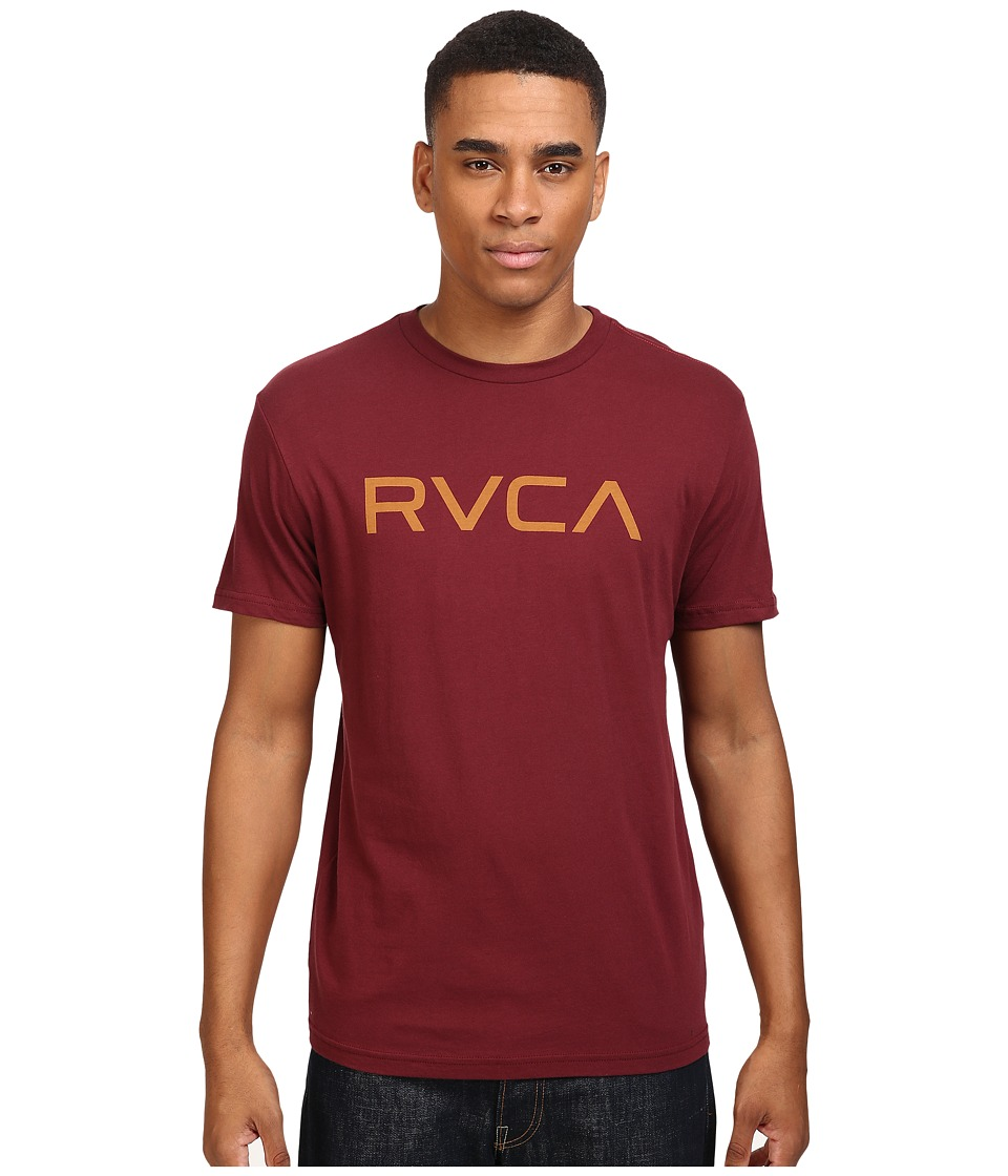 RVCA - Big Vintage Wash Tee (Tawny Port) Men's T Shirt