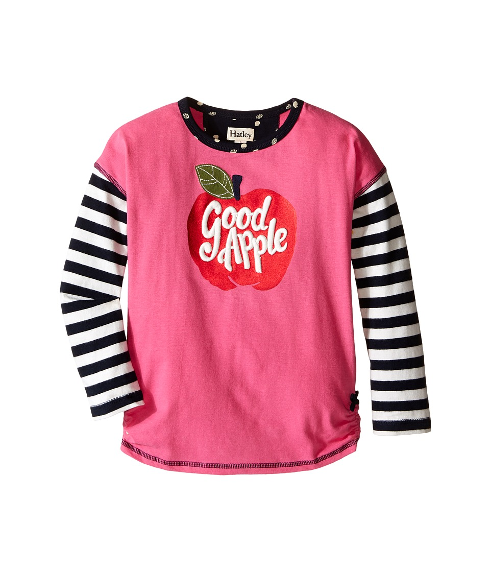 Hatley Kids - Nordic Apple Graphic Tee (Toddler/Little Kids/Big Kids) (Pink) Girl's T Shirt