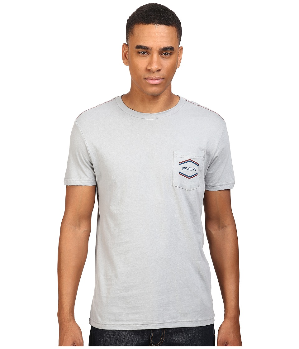 RVCA - Double Hex Pocket Tee (Monument) Men's T Shirt