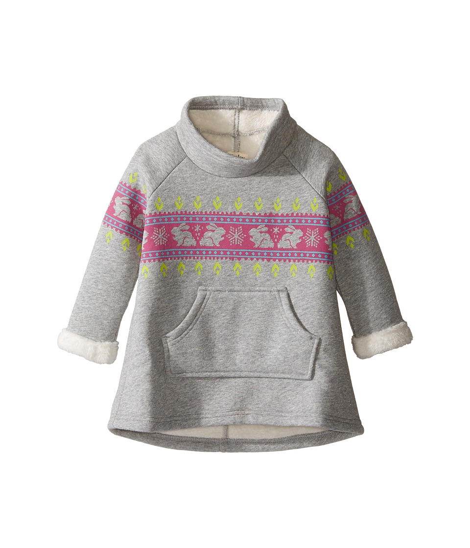 Hatley Kids - Ski Bunny Bonded Sherpa Dress (Toddler/Little Kids/Big Kids) (Grey) Girl's Dress
