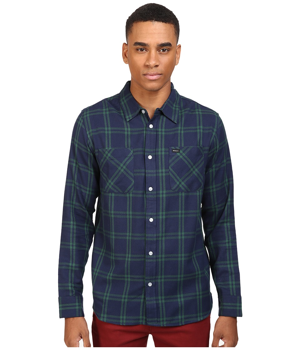 RVCA - Payne II Long Sleeve (Federal Blue) Men's Clothing