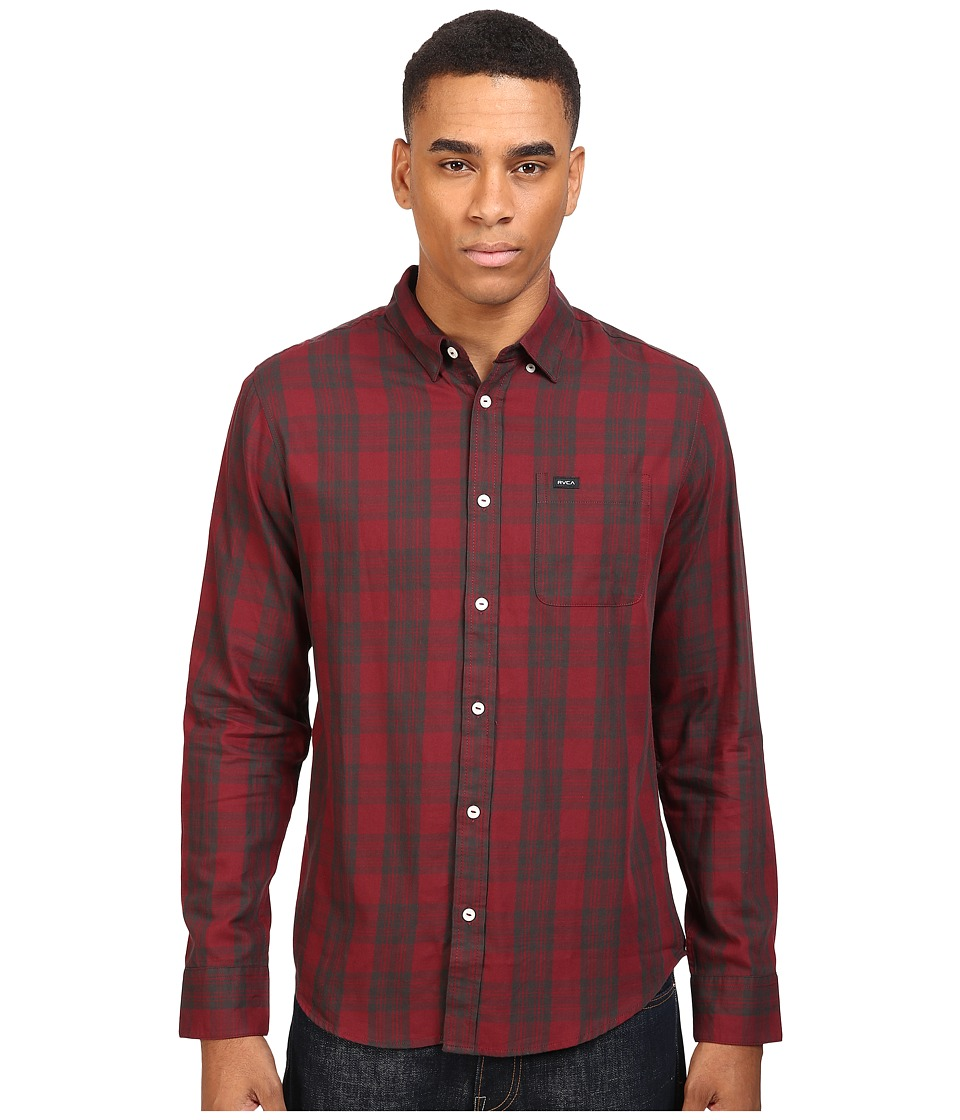 RVCA - Lament Long Sleeve (Tawny Port) Men's Clothing