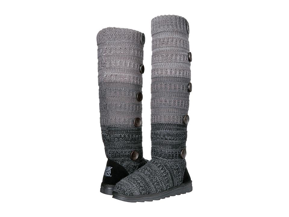 MUK LUKS - Kalie Boots (Black/Grey) Women's Boots