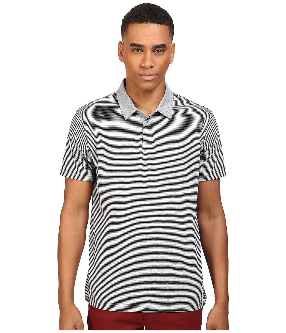 RVCA - Sure Thing Stripe Polo (Athletic Heather) Men's Short Sleeve Knit
