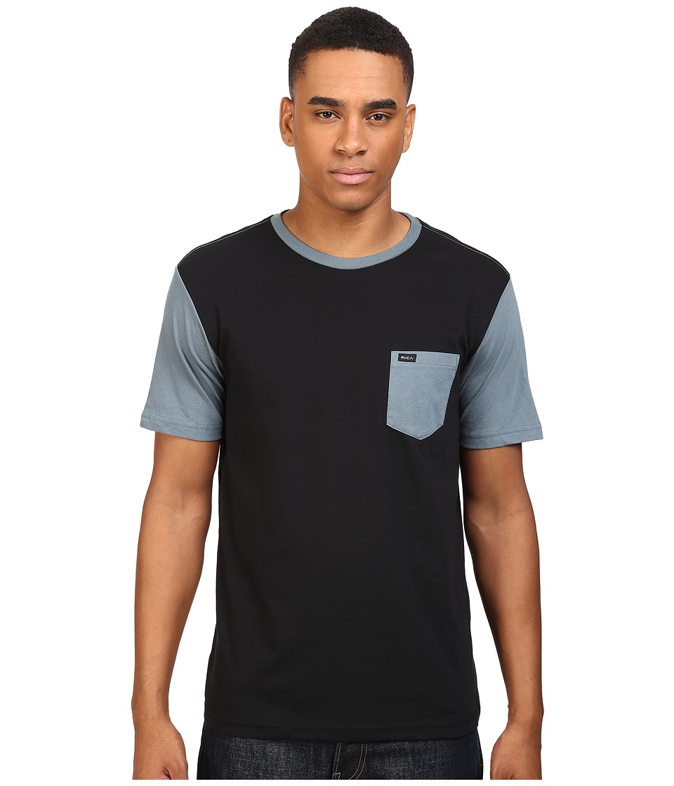 RVCA - Change Up Crew (Blue) Men's Short Sleeve Pullover