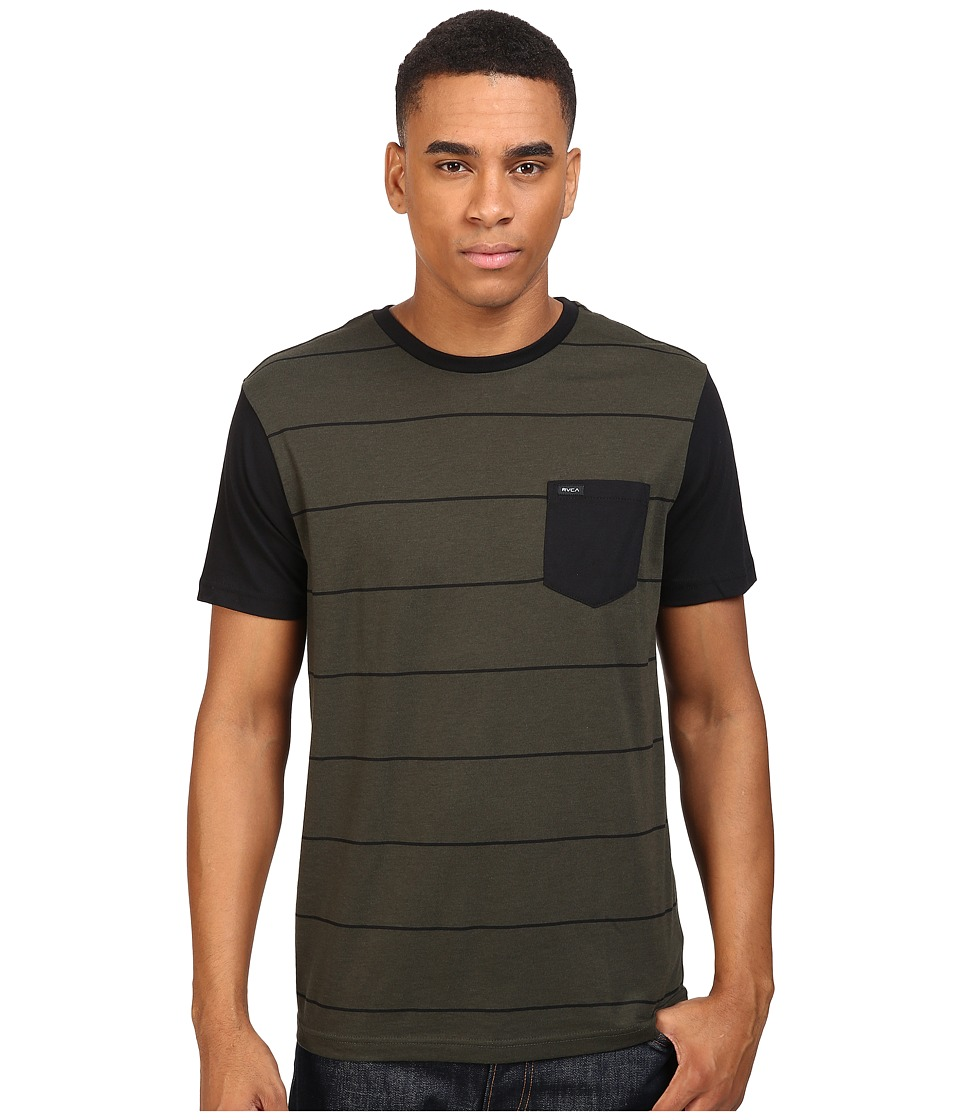 RVCA - Change Up Crew (Forest) Men's Short Sleeve Pullover