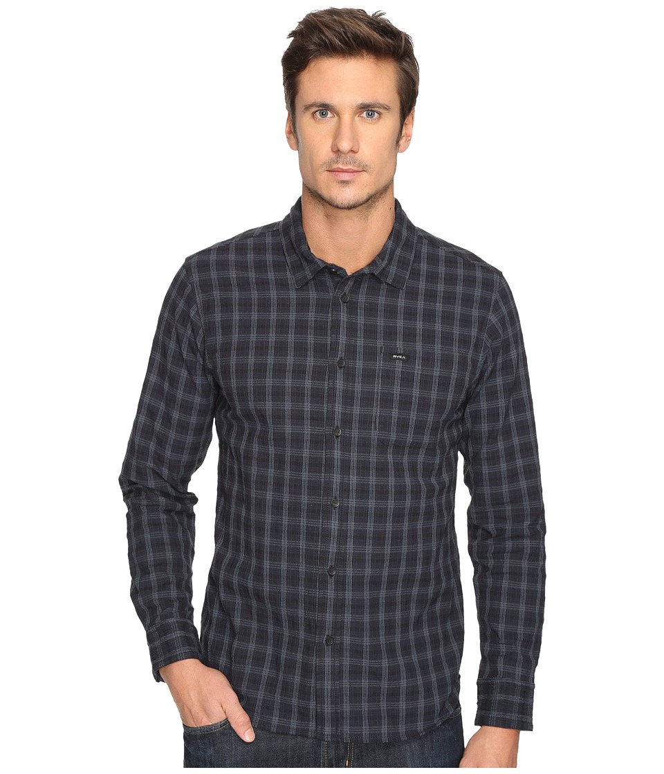 RVCA - That'll Do Seer Long Sleeve (Black) Men's Clothing