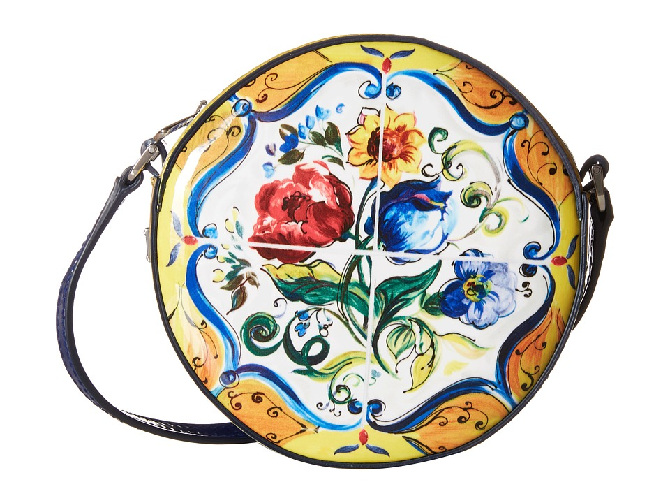 Dolce & Gabbana Kids - Back to School Printed Patent Crossbody (Print) Cross Body Handbags