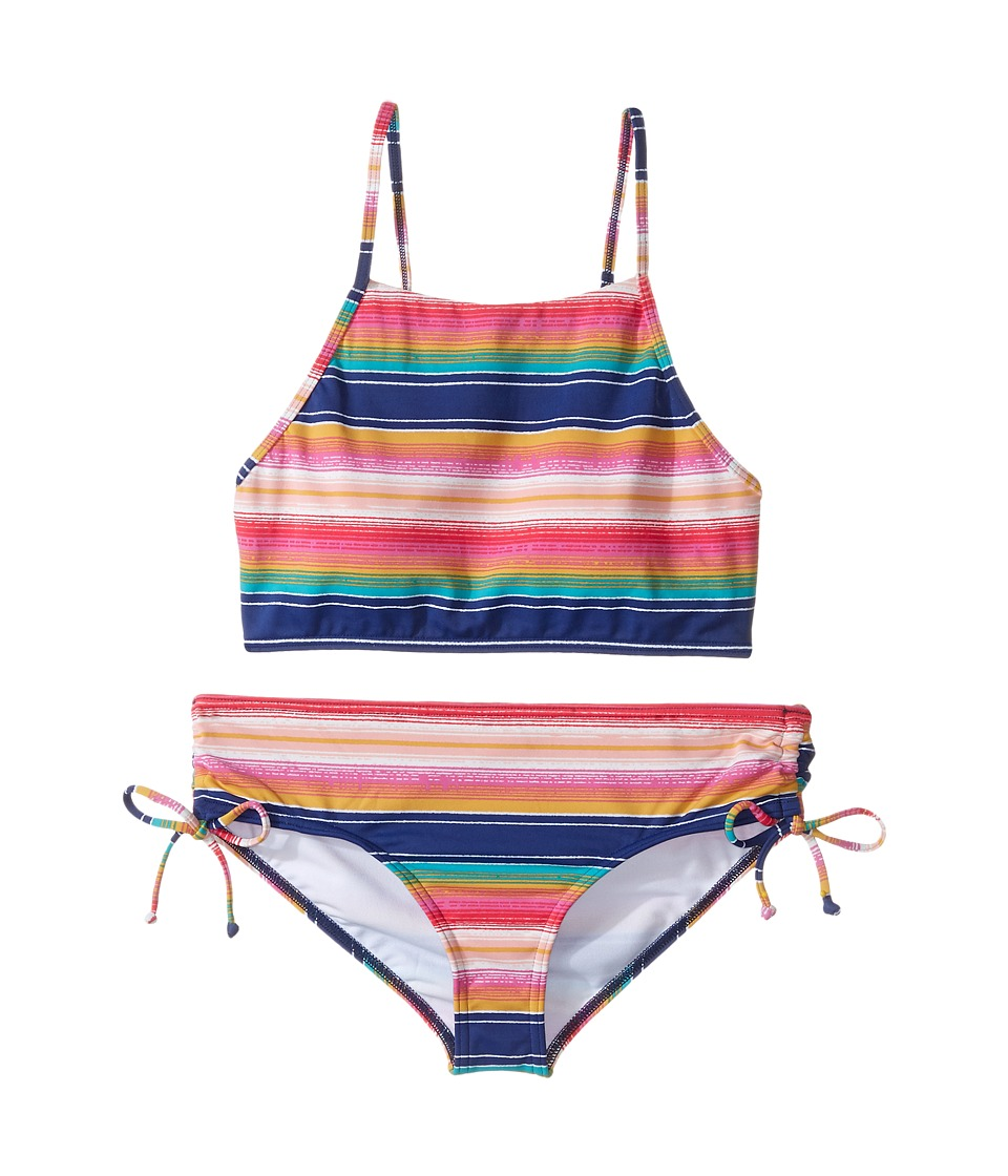 Billabong Kids - Sunset Sol Crop Set (Little Kids/Big Kids) (Multi) Girl's Swimwear Sets