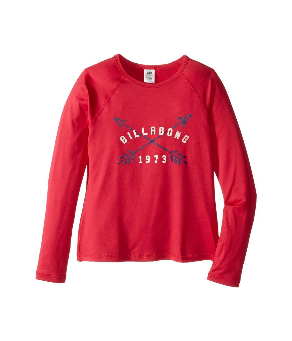 Billabong Kids Sol Searcher Long Sleeve Rashguard (Little Kids/Big Kids) (Wild Berry) Girl