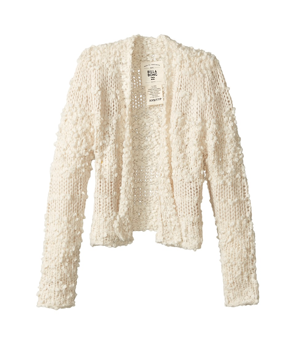 Billabong Kids - All Fur You Cardigan (Little Kids/Big Kids) (White Cap) Girl's Sweater