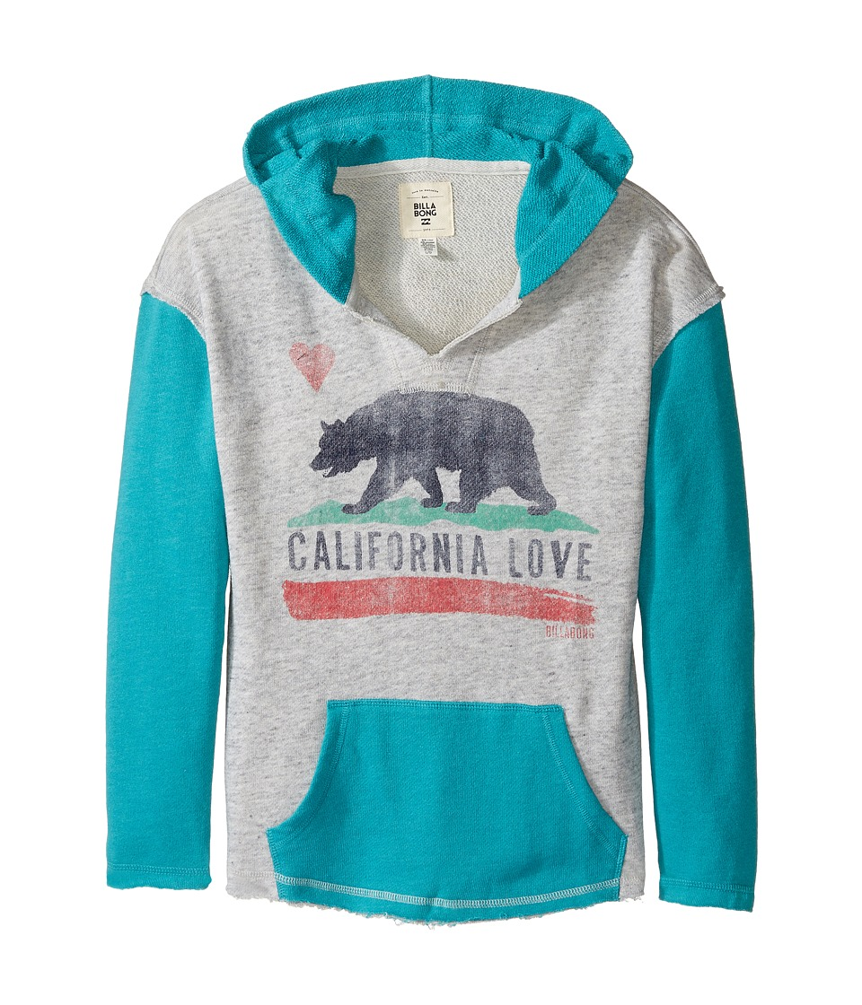 Billabong Kids - Days Off Hoodie (Little Kids/Big Kids) (Aruba) Girl's Sweatshirt