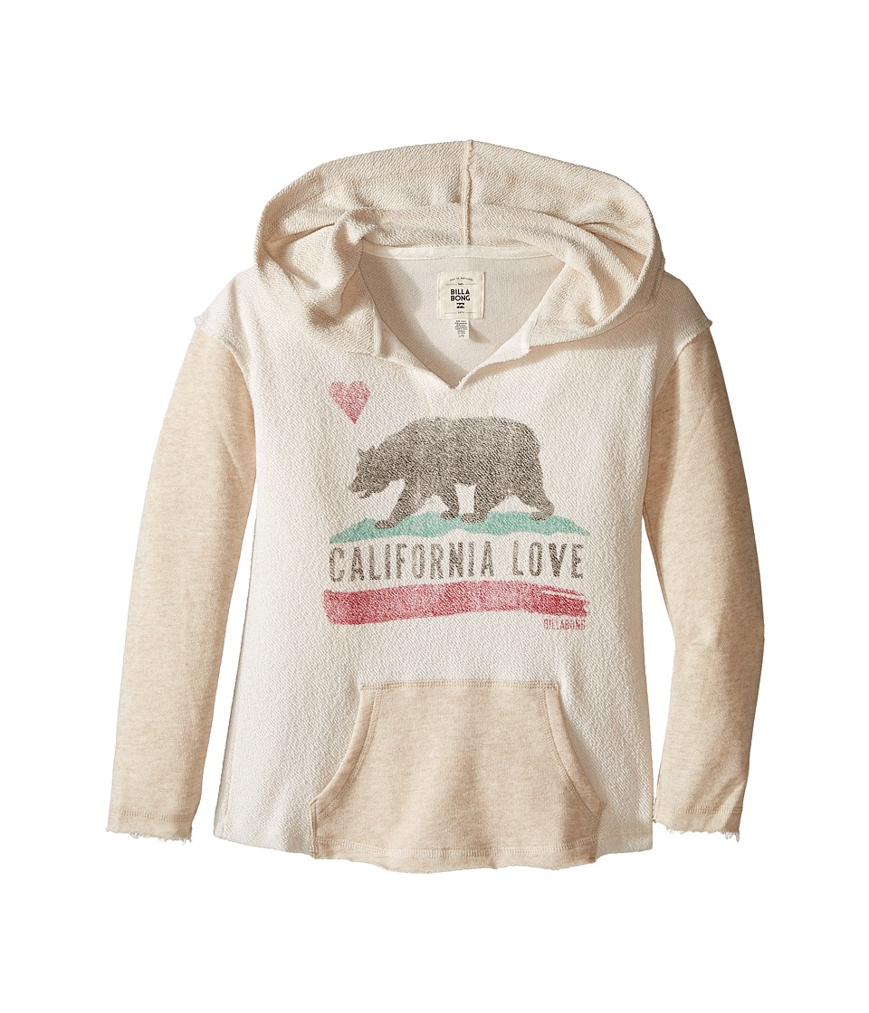 Billabong Kids - Days Off Hoodie (Little Kids/Big Kids) (Oatmeal Heather) Girl's Sweatshirt