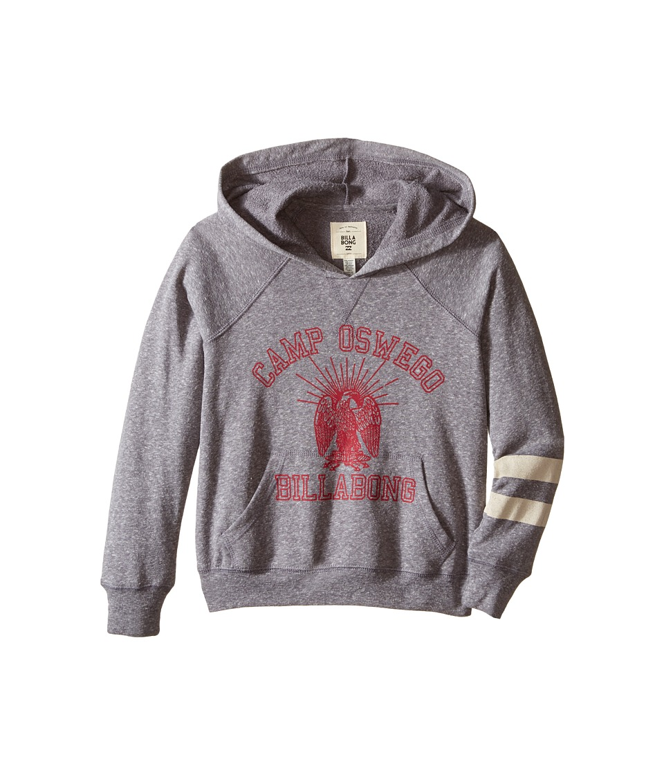 Billabong Kids - Camp Nights Hoodie (Little Kids/Big Kids) (Dark Athletic Grey) Girl's Sweatshirt