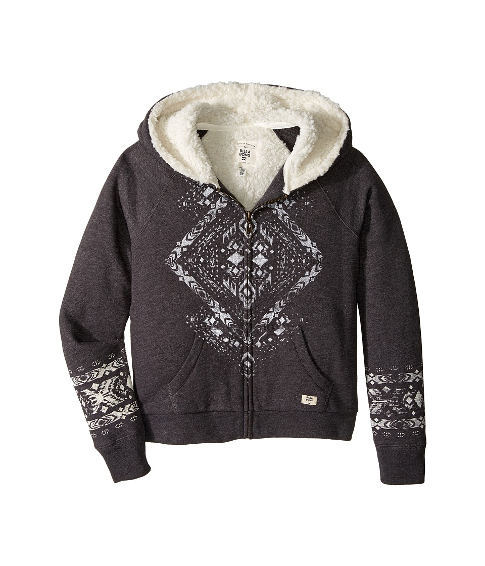 Billabong Kids - Wild Soul Hoodie (Little Kids/Big Kids) (Off-Black) Girl's Sweatshirt