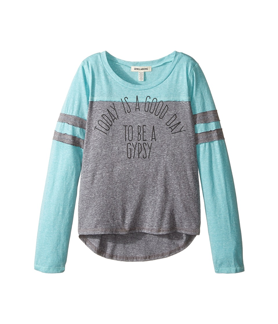 Billabong Kids - Still Down Tee (Little Kids/Big Kids) (Dark Athletic Grey) Girl's T Shirt