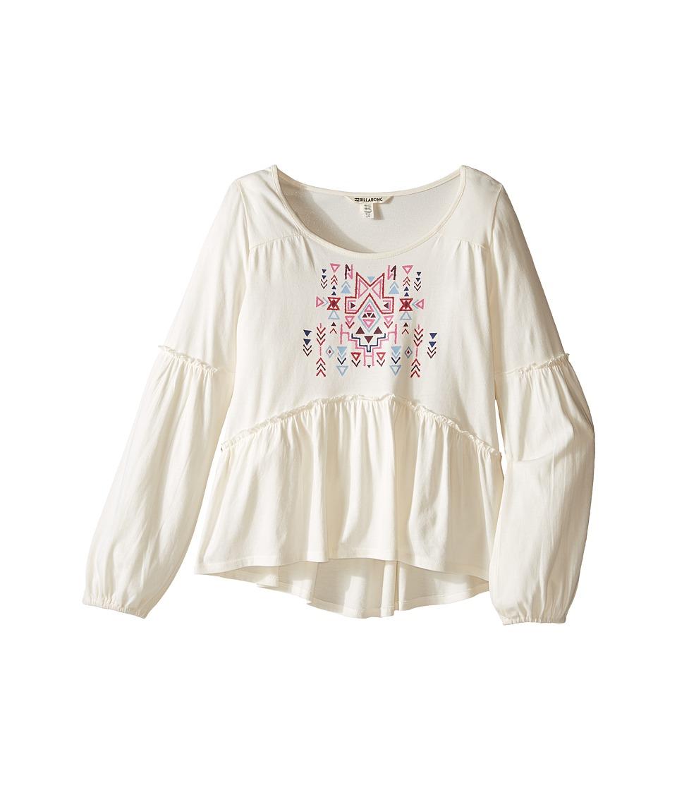 Billabong Kids - Into a Dream Top (Little Kids/Big Kids) (White Cap) Girl's Clothing
