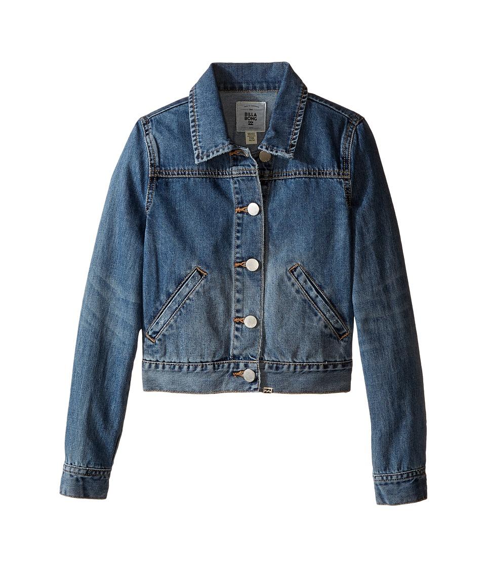 Billabong Kids - Gypsy at Heart Jacket (Little Kids/Big Kids) (Vintage Indigo) Girl's Coat