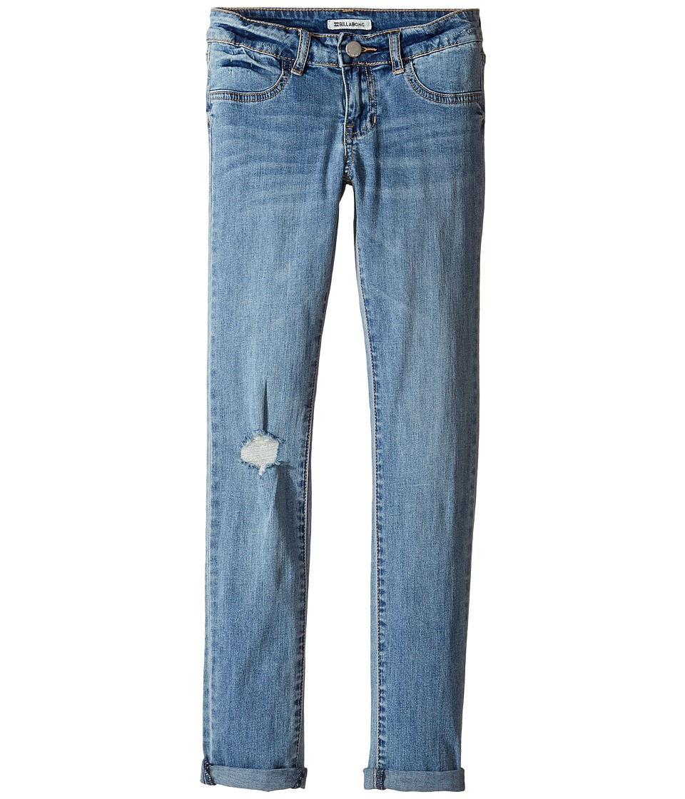 Billabong Kids - Until the End Five-Pocket Denim (Little Kids/Big Kids) (Vintage Indigo) Girl's Jeans