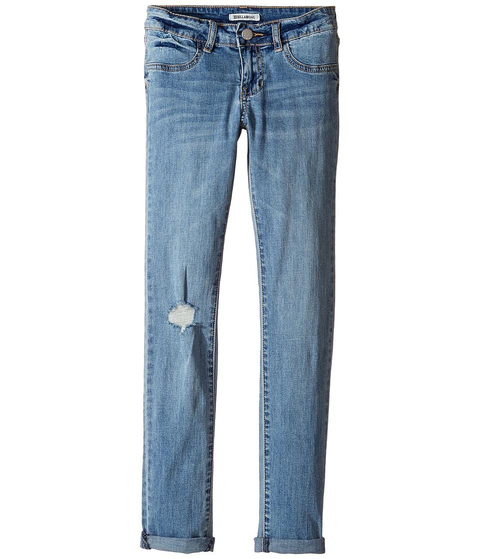 Billabong Kids - Until the End Five-Pocket Denim (Little Kids/Big Kids) (Vintage Indigo) Girl's Jeans