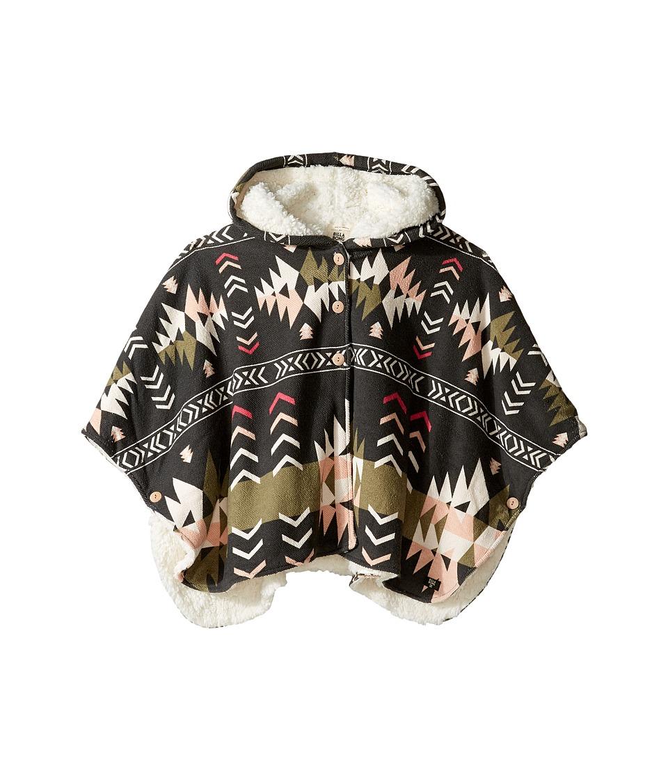 Billabong Kids - Fast Lane Poncho (Little Kids/Big Kids) (Off-Black) Girl's Sweater