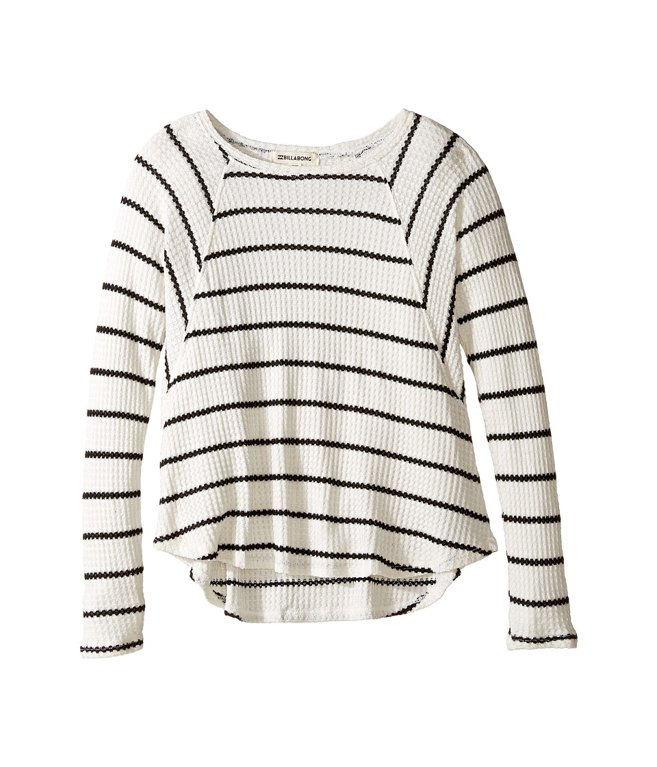 Billabong Kids - Roaming Free Top (Little Kids/Big Kids) (Black/White) Girl's Clothing