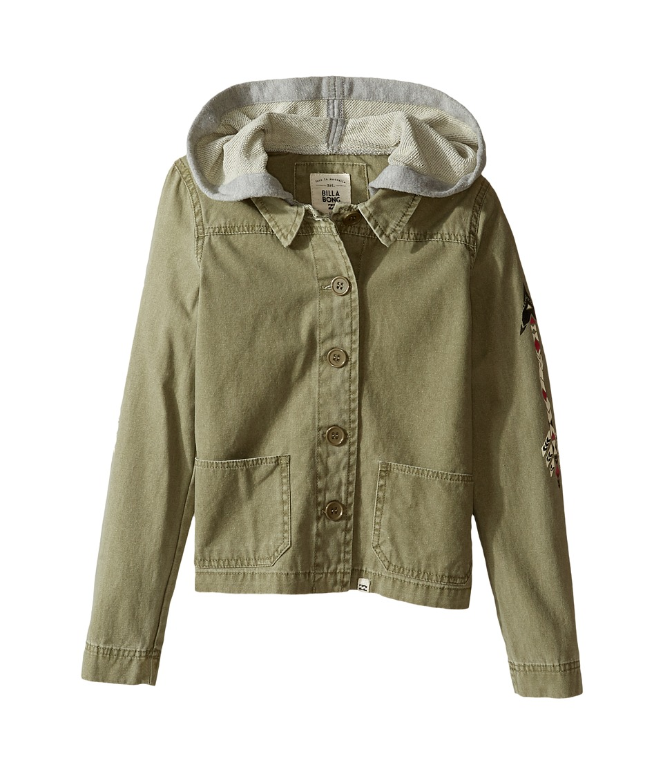 Billabong Kids - Arrow Up Jacket (Little Kids/Big Kids) (Seagrass) Girl's Coat