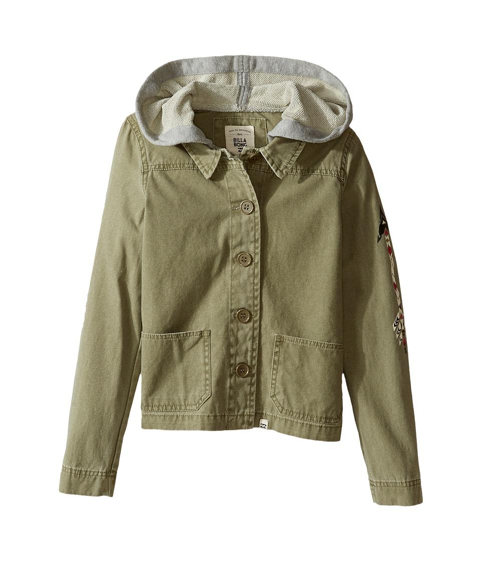 Billabong Kids - Arrow Up Jacket (Little Kids/Big Kids) (Seagrass) Girl's Coat
