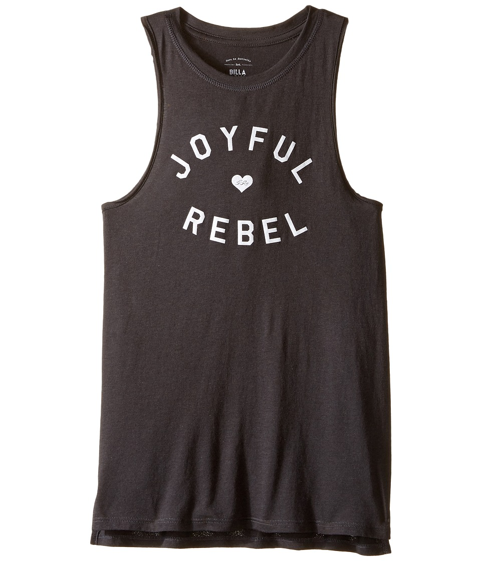 Billabong Kids - Joyful Rebel Tank Top (Little Kids/Big Kids) (Off-Black) Girl's Sleeveless