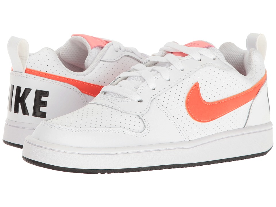 Nike - Recreation Low (White/Black/Bright Melon/Total Crimson) Women's Lace up casual Shoes