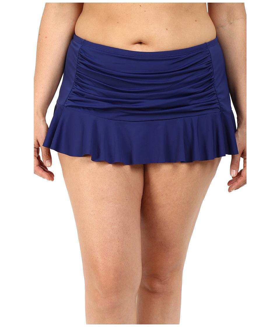 Bleu Rod Beattie Plus Size Jet Set Go Retro Skirted Hipster Bottoms (Indigo) Women