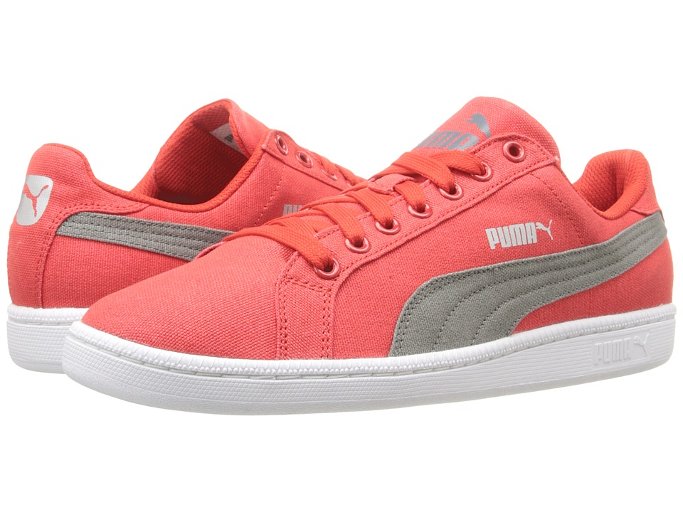PUMA - Smash CV (High Risk Red/Castor Grey) Men's Shoes