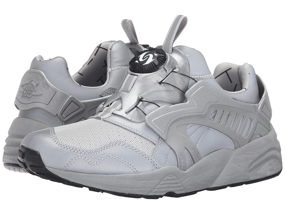 PUMA - Disc Blaze Reflective (Silver Metallic/Black) Men's Shoes