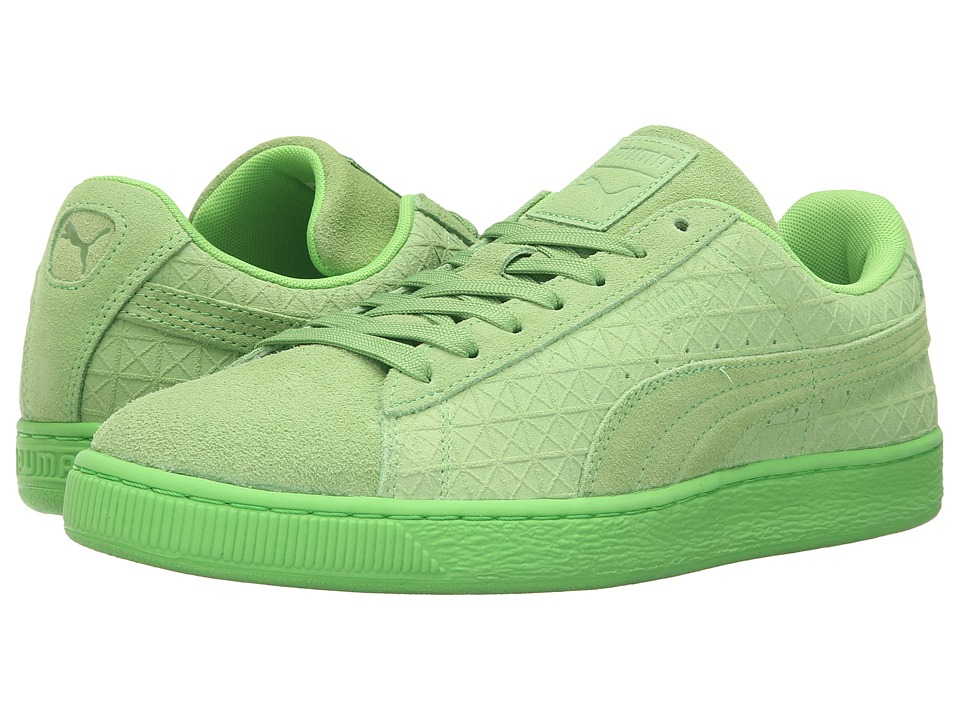 PUMA - Suede On Suede (Green Flash/White) Men's Shoes