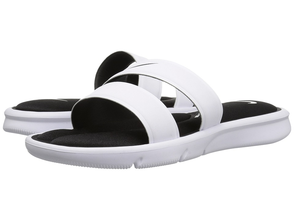 Nike - Ultra Comfort Slide (White/White/Black) Women's Sandals