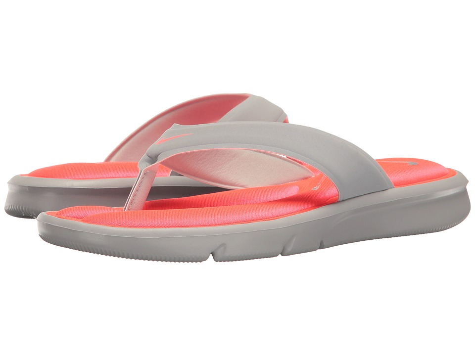 Nike - Ultra Comfort Thong (Wolf Grey/Wolf Grey/Hyper Punch) Women's Sandals