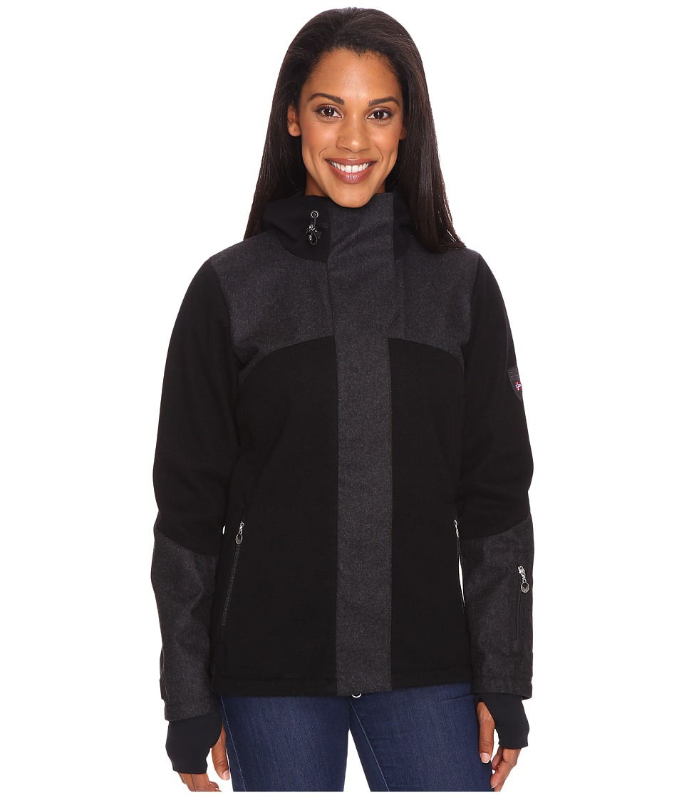 Dale of Norway - Stryn Feminine (Black/Dark Charcoal) Women's Coat