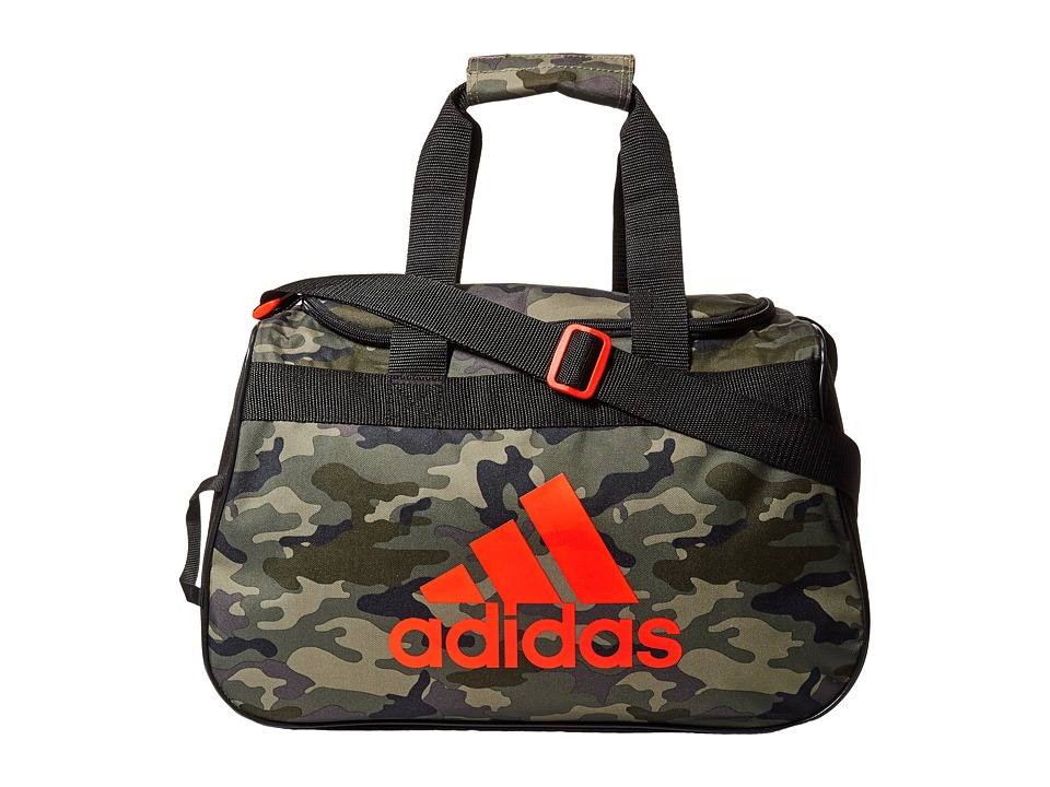 adidas - Diablo Small Duffel (Cab Camo Base Green/Bold Orange) Duffel Bags