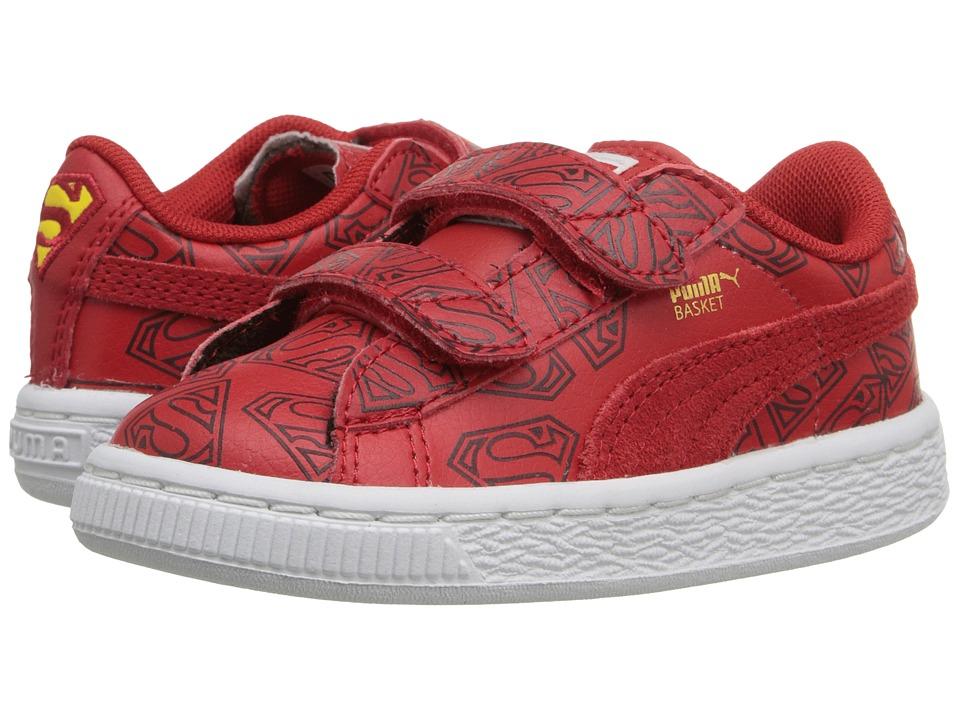 Puma Kids - Basket Superman V (Toddler/Little Kid/Big Kid) (High Risk Red/High Risk Red) Boys Shoes