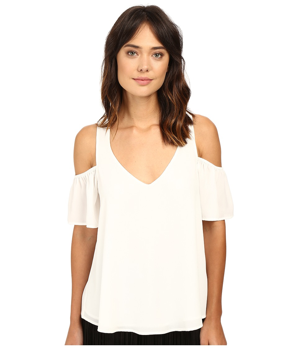 Show Me Your Mumu - Hazel Ruffle Top (Tusk Crisp) Women's Blouse